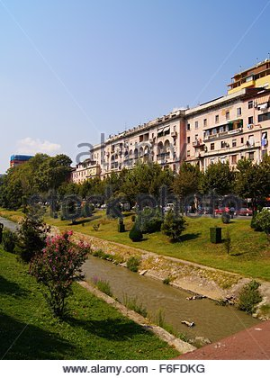 Lana river in Tirana, Albania - Stock Photo