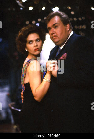 Mar 06, 1992; Rome, ITALY; Actor JOHN CANDY as Augie Morosco and ORNELLA MUTI as Elena in the Eugene Levy directed - Stock Photo