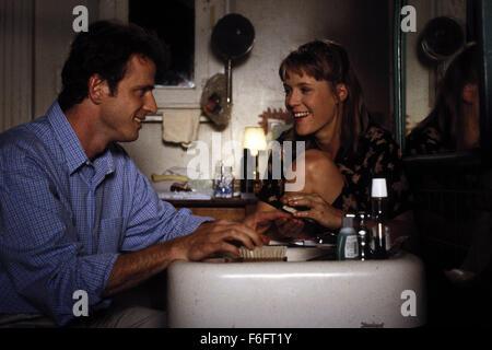 Apr 16, 1993; Spokane, WA, USA; AIDAN QUINN as Benjamin 'Benny' Pearl and MARY STUART MASTERSON as Juniper 'Joon' - Stock Photo