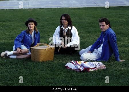 Apr 16, 1993; Spokane, WA, USA; (left to right) MARY STUART MASTERSON as Juniper 'Joon' Pearl, JOHNNY DEPP as Sam, - Stock Photo