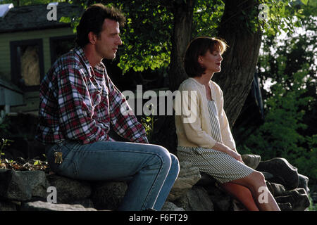 Apr 16, 1993; Spokane, WA, USA; AIDAN QUINN as Benjamin 'Benny' Pearl and JULIANNE MOORE as Ruthie in the comic, - Stock Photo