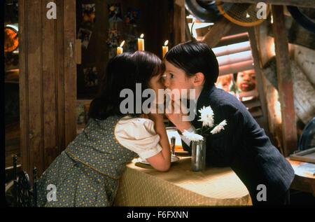 Aug 05, 1994; Hollywood, CA, USA; TRAVIS TEDFORD as George Mcfarland and BRITTANY ASHTON HOLMES as Darla Jean Hood - Stock Photo