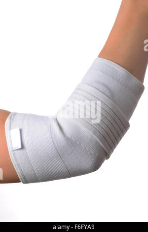 elbow support medical bandage isolated on white stock