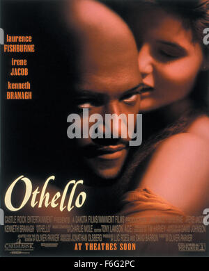 RELEASE DATE: December 15, 1995. MOVIE TITLE: Othello. STUDIO: Dakota Films. PLOT: Iago convinces Othello, The Moor - Stock Photo