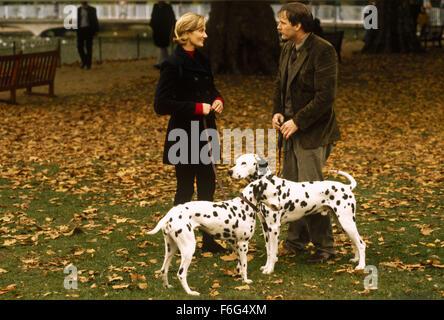 Jan 21, 1996; London, UK; Actors JOELY RICHARDSON as Anita and JEFF DANELS as Roger in '101 Dalmatians'. Directed - Stock Photo