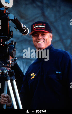 May 11, 1997; Los Angeles, CA, USA; Director ROGER DONALDSON on the set of 'Dante's Peak.' - Stock Photo