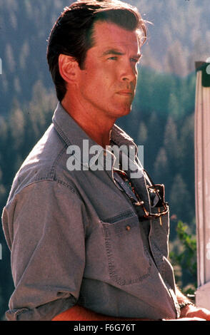 May 11, 1997; Los Angeles, CA, USA; Movie stills from 'Dante's Peak' featuring PIERCE BROSNAN as Harry Dalton. - Stock Photo