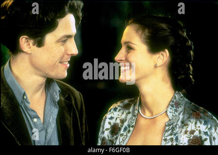 May 13, 1999; Hollywood, CA, USA; JULIA ROBERTS as Anna Scott and HUGH GRANT as William Thacker in the romantic - Stock Photo