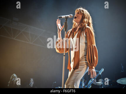 Florence and the Machine performing at Alexandra Palace in London 25 September 2015. - Stock Photo