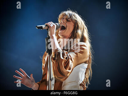 Florence and the Machine performing at Alexandra Palace in London 25 September 2015 - Stock Photo