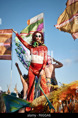 Bestival on the Isle of Wight September 2015. - Stock Photo