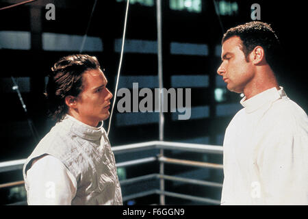 RELEASED: Jan 24, 2000 - Original Film Title: Hamlet. PICTURED: ETHAN HAWKE and LIEV SCHREIBER. - Stock Photo