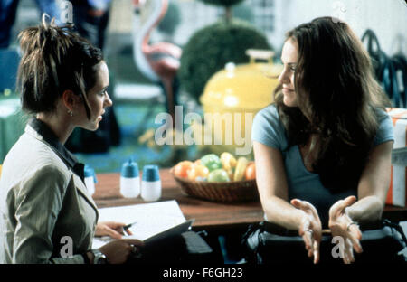 Oct 31, 1999; Los Angeles, CA, USA; Jennifer Love Hewitt, left, and Amy Brenneman star in 1999 movie 'The Suburbans' - Stock Photo