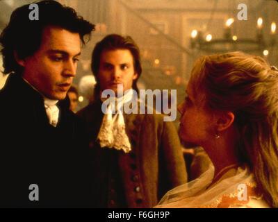 Nov 17, 1999; London, England, UK; JOHNNY DEPP and CHRISTINA RICCI  star as Katrina Anne Van Tassel and Constable - Stock Photo