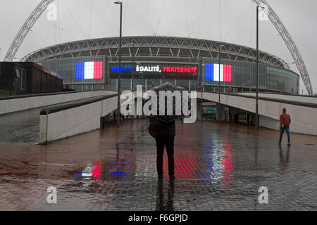 Wembley London,UK. 17th Nov 2015.  A quiet Wembley stadium before the sell out match between England and France - Stock Photo