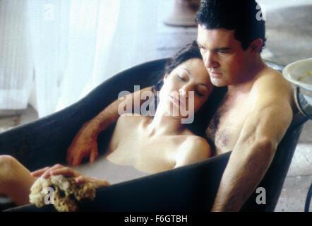 Jul 11, 2001; Hollywood, CA, USA; ANGELINA JOLIE as Julia Russell and ANTONIO BANDERAS as Luis Antonio Vargas in - Stock Photo