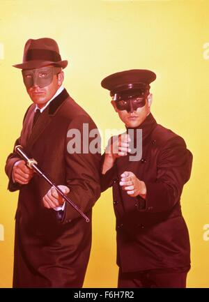 1966, Film Title: GREEN HORNET, Pictured: CHARACTER, GREEN HORNET: 1936 RADIO, KATO: GREEN HORNET'S SIDEKICK, BRUCE - Stock Photo