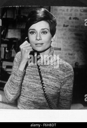 1967, Film Title: WAIT UNTIL DARK, Director: TERENCE YOUNG, Pictured: ACCESSORIES, AUDREY HEPBURN, TELEPHONE, TELEPHONING, - Stock Photo