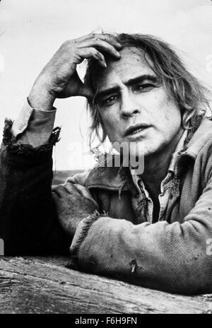 1976, Film Title: MISSOURI BREAKS, Director: ARTHUR PENN, Pictured: MARLON BRANDO. (Credit Image: SNAP) - Stock Photo
