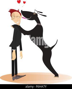 Dog and master - Stock Photo