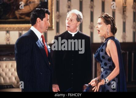 1991, Film Title: OSCAR, Director: JOHN LANDIS, Studio: TOUCHSTONE, Pictured: DON AMECHE, JOHN LANDIS, ORNELLA MUTI. - Stock Photo