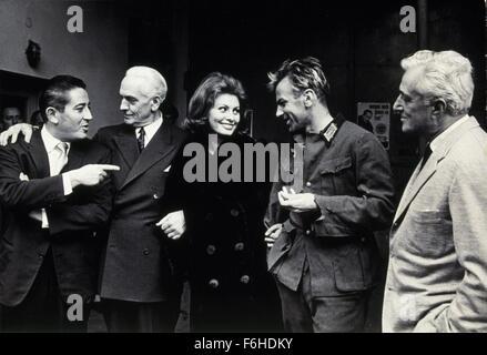 1962, Film Title: CONDEMNED OF ALTONA, Director: VITTORIO DeSICA, Studio: FOX, Pictured: VITTORIO DeSICA, ENSEMBLE, - Stock Photo