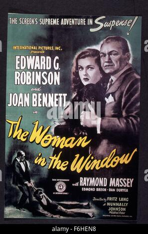 1944, Film Title: WOMAN IN THE WINDOW, Director: FRITZ LANG, Studio: RKO, Pictured: JOAN BENNETT, FRITZ LANG. (Credit - Stock Photo