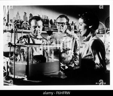 1953, Film Title: DONOVAN'S BRAIN, Director: FELIX FEIST, Studio: UNITED ARTISTS, Pictured: 1953, LEW AYRES, GENE - Stock Photo