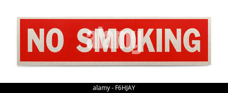 Red Rectangle No Smoking Sign Isolated on a White Background. - Stock Photo