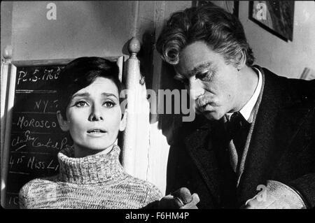 1967, Film Title: WAIT UNTIL DARK, Director: TERENCE YOUNG, Studio: WARNER, Pictured: ALAN ARKIN, AUDREY HEPBURN, - Stock Photo