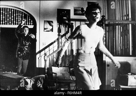 1967, Film Title: WAIT UNTIL DARK, Director: TERENCE YOUNG, Studio: WARNER, Pictured: 1967, ALAN ARKIN, AUDREY HEPBURN, - Stock Photo