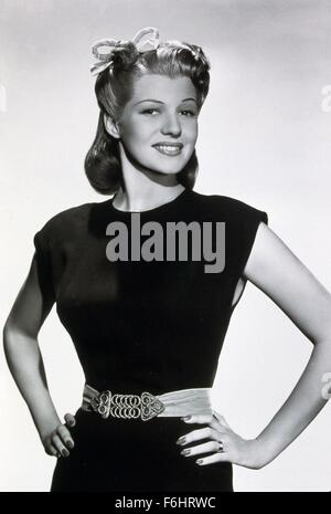 1941, Film Title: YOU'LL NEVER GET RICH, Director: SIDNEY LANFIELD, Studio: COLUMBIA, Pictured: RITA HAYWORTH, GEORGE - Stock Photo