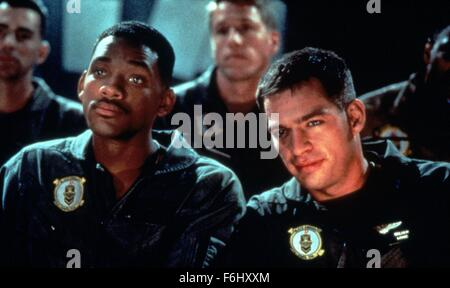 1996, Film Title: INDEPENDENCE DAY, Studio: FOX, Pictured: ALIEN INVASION, HARRY CONNICK JR, SCI-FI, WILL SMITH, - Stock Photo