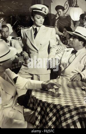 1940, Film Title: SEVEN SINNERS, Director: TAY GARNETT, Studio: UNIVERSAL, Pictured: CAPTIAN'S, CLOTHING, MARLENE - Stock Photo