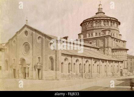 Church of Santa Maria delle Grazie, Milan, Italy - Stock Photo