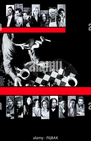 Mar 04, 2003; Hollywood, CA, USA; Poster for the comedy 'Coffee and Cigarettes' directed by Jim Jarmusch. - Stock Photo
