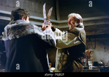 Jul 11, 2003; Hollywood, CA, USA; SEAN CONNERY (right) as Allan Quatermain in the action, sci-fi, fantasy ''The - Stock Photo