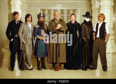 Jul 11, 2003; Calgary, AB, CANADA; Cast of the action sci-fi fantasy film 'The League of Extraordinary Gentlemen' - Stock Photo
