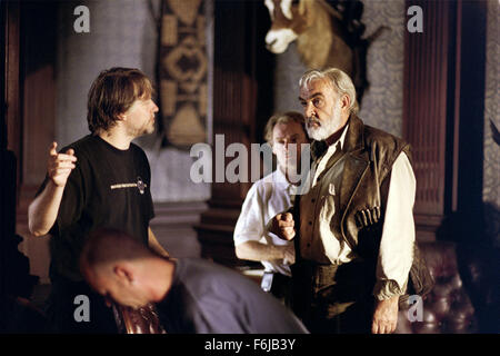 Jul 11, 2003; Calgary, AB, CANADA; SEAN CONNERY (R) stars as Allan Quatermain in the action sci-fi fantasy film - Stock Photo