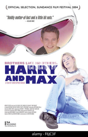 RELEASE DATE: January 17, 2004. MOVIE TITLE: Harry and Max. STUDIO: Antarctic Pictures. PLOT: Two brothers, 23 and - Stock Photo