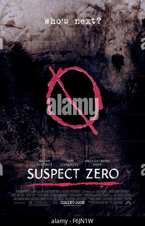 RELEASE DATE: August 27, 2004. MOVIE TITLE: Suspect Zero. STUDIO: Paramount Pictures. PLOT: A mysterious serial - Stock Photo