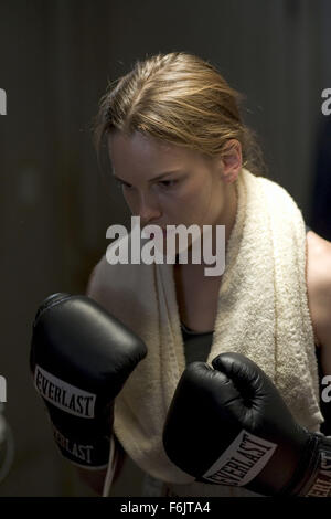 Dec 03, 2004; Los Angeles, CA, USA; HILARY SWANK stars as Maggie Fitzgerald in the romantic drama 'Million Dollar - Stock Photo