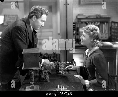 RELEASED: May 10, 1940 - Original Film Title: Edison, the Man. PICTURED: SPENCER TRACY, RITA JOHNSON. - Stock Photo