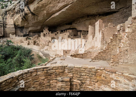 Cliff Palace, cliff dwelling, Colorado - Stock Photo