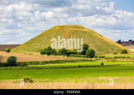 Silbury Hill, Avebury, Wiltshire, England, United Kingdom, Europe. - Stock Photo
