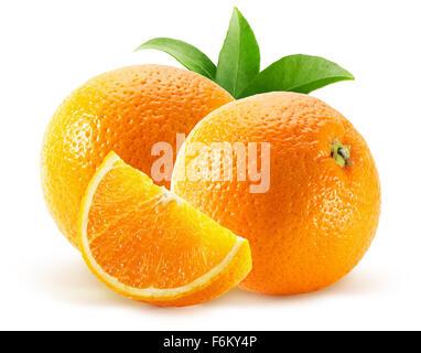 oranges isolated on the white background. - Stock Photo