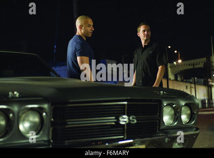 Fast & Furious - Vin Diesel and PAUL WALKER..'Fast & Furious' Film - 2009. - Stock Photo