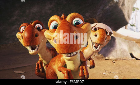RELEASE DATE: July 1, 2009 . MOVIE TITLE: Ice Age: Dawn of the Dinosaurs. STUDIO: Twentieth Century-Fox Films. PLOT: - Stock Photo