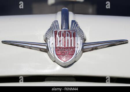 Seat 600 Formichetta, customized by Siata Española S.A. Front logotype. - Stock Photo