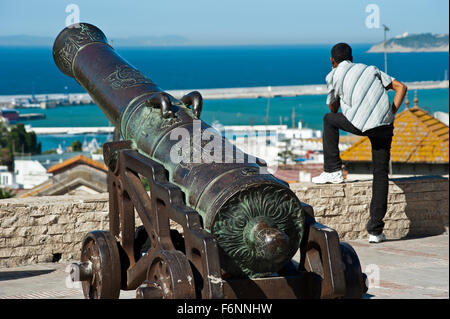 View from Terrasse des Paresseux. Tangier.Morocco.North Africa. - Stock Photo